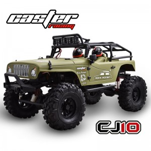 CJ10-18-RTR Caster 1/10 Jeep Rock Rocket - Brushed Power Army green body