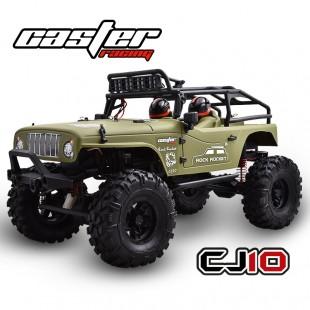 CJ10-18-RTR Caster 1/10 Jeep Rock Rocket - Brushed Power Army green body