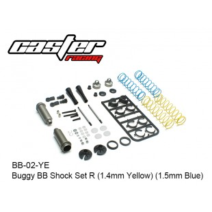 BB-02-YE  Buggy BB Shock Set R (1.4mm Yellow) (1.5mm Blue)