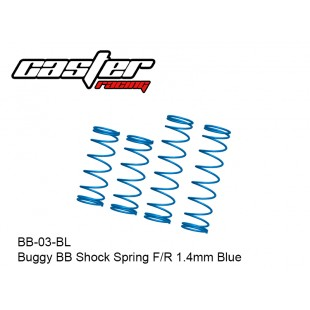 BB-03-BL  Buggy BB Shock Spring F/R 1.4mm Blue