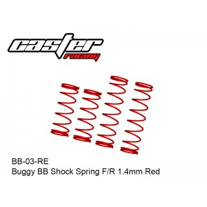 BB-03-RE  Buggy BB Shock Spring F/R 1.4mm Red