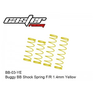 BB-03-YE  Buggy BB Shock Spring F/R 1.4mm Yellow