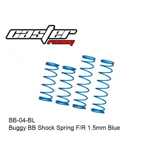 BB-04-BL  Buggy BB Shock Spring F/R 1.5mm Blue
