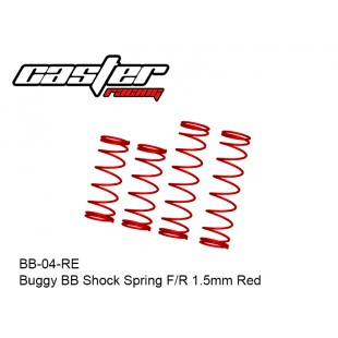 BB-04-RE  Buggy BB Shock Spring F/R 1.5mm Red