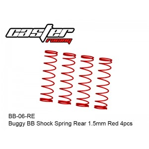 BB-06-RE  Buggy BB Shock Spring Rear 1.5mm Red 4pcs