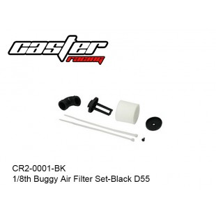 CR2-0001-BK  1/8th Buggy Air Filter Set-Black D55