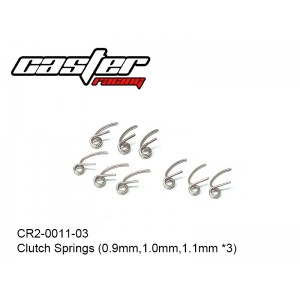 CR2-0011-03  Clutch Springs (0.9mm,1.0mm,1.1mm x3)
