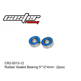 CR2-0013-12  Rubber Sealed Bearing 5x12x4mm  (2pcs)