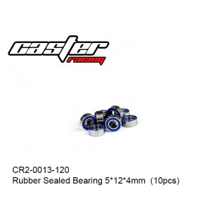 CR2-0013-120  Rubber Sealed Bearing 5x12x4mm  (10pcs)