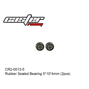 CR2-0013-5  Rubber Sealed Bearing 5*10*4mm (2pcs)