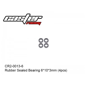 CR2-0013-6  Rubber Sealed Bearing 6x10x3mm (4pcs)