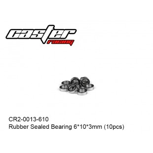 CR2-0013-610  Rubber Sealed Bearing 6*10*3mm (10pcs)