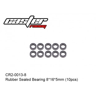 CR2-0013-8  Rubber Sealed Bearing 8x16x5mm (10pcs)