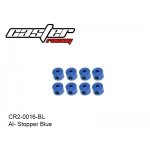 CR2-0016-BL  Al- Stopper Blue 8pcs