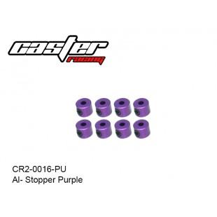 CR2-0016-PU  Al- Stopper Purple 8pcs
