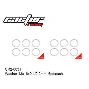 CR2-0031  Washer 13x16x0.1/0.2mm  6pc/each