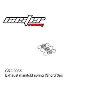 CR2-0035  Exhaust manifold spring (Short)  3pcs