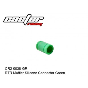 CR2-0038-GR  RTR Muffler Silicone Connector Green