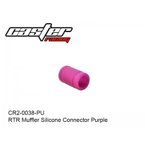 CR2-0038-PU  RTR Muffler Silicone Connector Purple