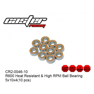 CR2-0046-10  R600 Heat Resistant & High RPM Ball Bearing 5x10x4(10 pcs)
