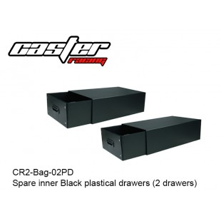 CR2-Bag-02PD  Spare inner Black plastical drawers (2 drawers)