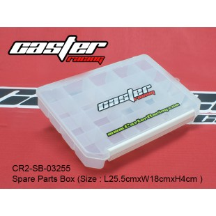 CR2-SB-03255   Spare Parts Box (Size : L25.5cmxW18cmxH4cm )