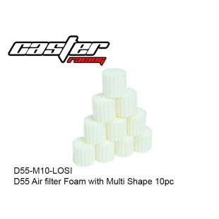 D55-M10-LOSI  D55 Air filter Foam with Multi Shape 10pc