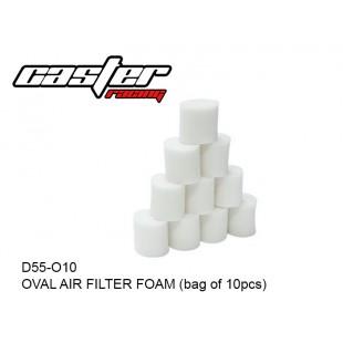 D55-O10  OVAL AIR FILTER FOAM (bag of 10pcs)