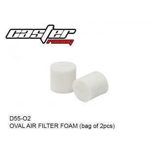 D55-O2  OVAL AIR FILTER FOAM (bag of 2pcs)