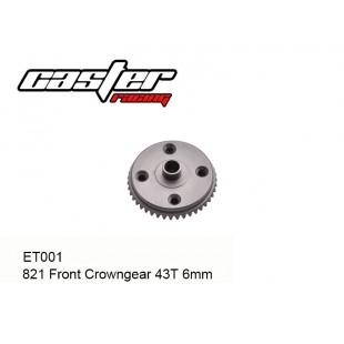 ET001 821 Front Crowngear 43T 6mm