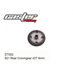 ET002  821 Rear Crowngear 43T 6mm