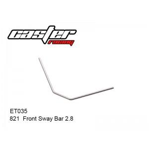 ET035  821  Front Sway Bar  2.8