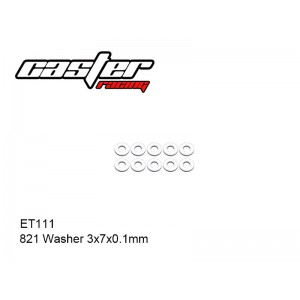 ET111  821 Washer 3x7x1mm