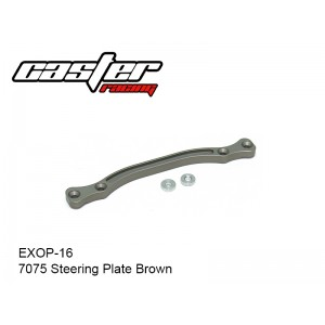 EXOP-16  7075 Steering Plate Brown