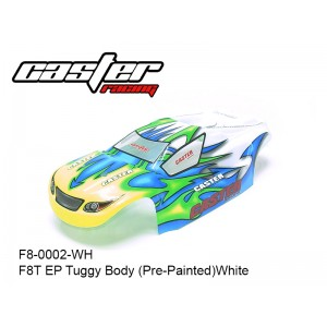 F8-0002-WH   F8T EP Tuggy Body (Pre-Painted)White
