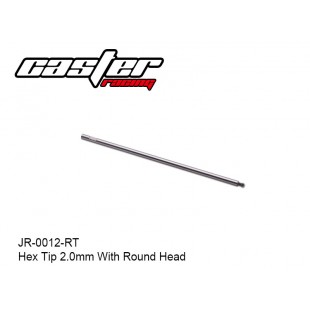 JR-0012-RT  Hex Tip 2.0mm With Round Head