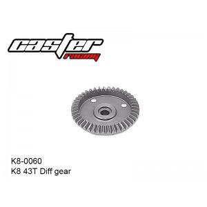 K8-0060  K8 43T Diff Gear 6mm