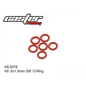 K8-0078  K8  6x1.5mm Diff. O-Ring