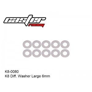 K8-0080  K8 Diff. Washer Large 6mm