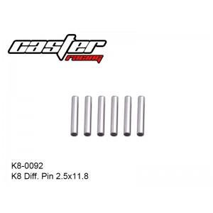K8-0092  K8 Diff. Pin 2.5x11.8