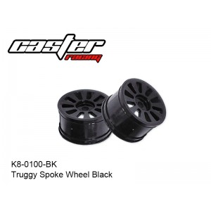 K8-0100-BK  Truggy Spoke Wheel Black