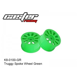 K8-0100-GR  Truggy Spoke Wheel Green