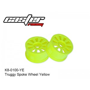 K8-0100-YE  Truggy Spoke Wheel Yellow