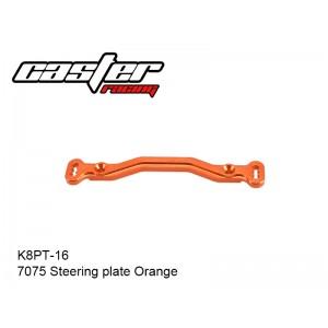 K8PT-16  K8 7075 Steering plate Orange