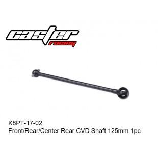 K8PT-17-02  Front/Rear/Center Rear CVD Shaft 125mm 1pc