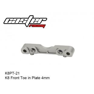 K8PT-21  K8 Front Toe in Plate  4mm