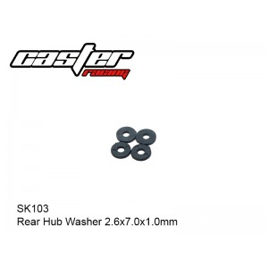 SK103  Rear Hub Washer 2.6x7.0x1.0mm