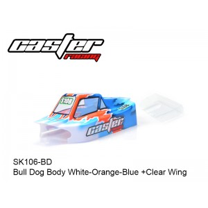 SK106-BD  Bull Dog Body White-Orange-Blue +Clear Wing