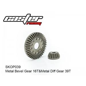 SKOP039  Metal Bevel Gear 16T&Metal Diff Gear 39T