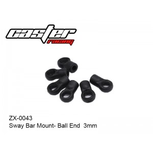 ZX-0043   Sway Bar Mount- Ball End  3mm